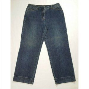 TALBOTS Women Capri Jeans Mid Rise Cuffed 2446E1M